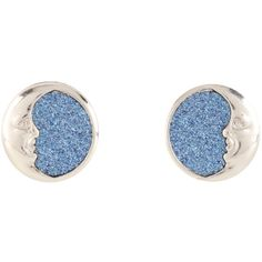Hot Topic Blackheart Silver & Blue Glitter Crescent Moon Earrings ($3.85) ❤ liked on Polyvore featuring jewelry, earrings, multi, glitter jewelry, silver jewelry, silver earrings, blue silver jewelry and earring jewelry