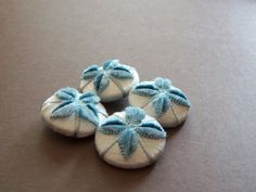 Gorgeous velvetfabric covered button collection by howbeadyful, $12.00