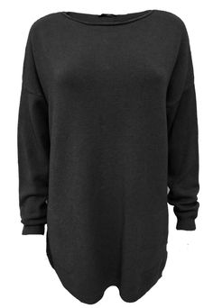 Black jumper with front pockets and pearl embellished back with cashmere