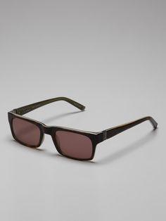 8411abc82d10 John Varvatos Eyewear Rectangular Sunglasses on Gilt Temple Logo
