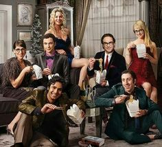 Classy Chinese takeout with the cast of the Big Bang Theory