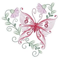 Rippled Dancing Butterflies 4 - 3 Sizes! | What's New | Machine Embroidery Designs | SWAKembroidery.com Ace Points Embroidery