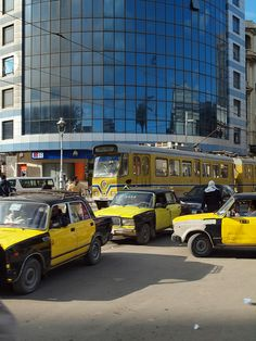 Trams and taxi's Alexandria Egypt [shared]