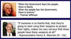 #political When the people fear the government