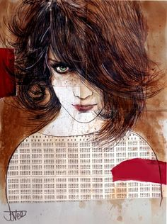 "Saatchi Art Artist Loui Jover; Drawing, ""wild honey (SOLD)"" #art"