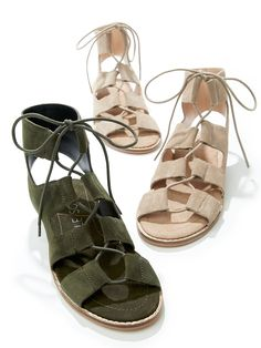 Suede lace-up sandals   Sole Society Cady