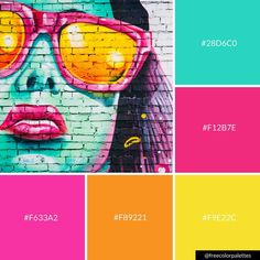 Bold | Bright | Street Art |Color Palette Inspiration. | Digital Art Palette And Brand Color Palette.