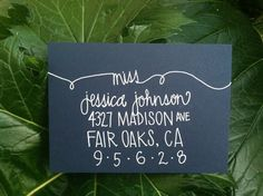 Custom Wedding Envelope Invitation Calligraphy via Etsy