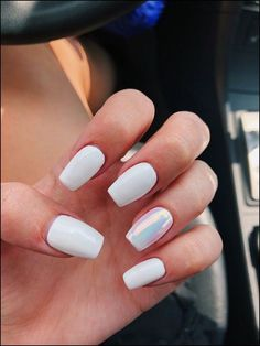 Cute Acrylic Nails 750060512925687917 - 48 Stylish Acrylic White Nail Art Designs and Ideas – Source by White Coffin Nails, White Acrylic Nails, White Nail Art, Best Acrylic Nails, White Chrome Nails, Acrylic Art, White Shellac Nails, Summer Shellac Nails, Acrylic Nail Designs For Summer