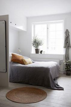 White Bedroom   Gray Bedding