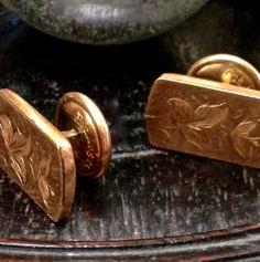 ANTIQUE GOLD CUFFLINKS A pair of Victorian by CzarchildArtAntiques, $60.00