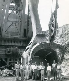 The Tiger shown during a field tour. This shovel first began its work in Harrison County, Ohio in moving on to other coal fields in Ohio through the Old Farm Equipment, Mining Equipment, Heavy Equipment, Surface Mining, Coal Mining, Shovel, Back In The Day, Historical Photos, West Virginia