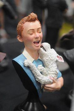 Tintin Bust with Snowy • Tintin, Herge j'aime