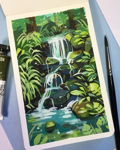 Little nature study in gouache (swipe to see the reference picture🌿) It felt really nice to just sit down and create something I wasn't… For the gouache.Skull studyBrilliant sketches Swipe 1 2 or Artist HUMID…Llama Unit Study Art Inspo, Kunst Inspo, Painting Inspiration, Art And Illustration, Gouache Painting, Painting & Drawing, Art Sketches, Art Drawings, Posca Art