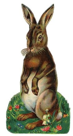 Victorian Scrap — Easter Bunny Rabbit (413×768)