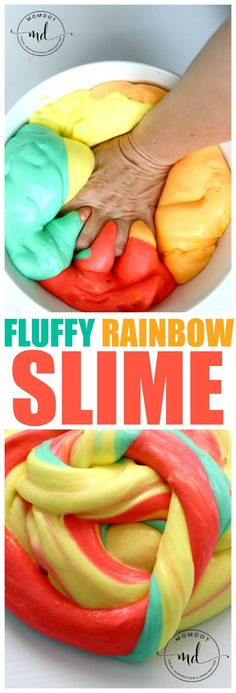 Rainbow FLUFFY SLIME recipe, Create AMAZING RAINBOW FLUFFY SLIME with this Tutorial