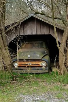 abandoned cars Cars Trucks Busses Trains 56 FORD Found in old Barn Vintage Pickup Trucks, Old Ford Trucks, Farm Trucks, Ford Maverick, Abandoned Cars, Abandoned Places, Abandoned Buildings, Ford F 1, F100