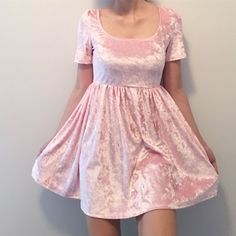 Valentine's Day SALE-KOKO PINK KAWAII VELVET DRESS