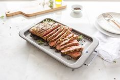 Restaurant-quality London Broil in the comfort of your home. This quick prep technique creates a succulent steak dinner that the whole family will love. London Broil Recipes, Cooking London Broil, Fun Cooking, Cooking Recipes, London Broil Marinade, Homemade Garlic Butter, Best Steak, Fresh Herbs, Food Hacks