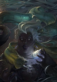"""Ursula"" by krhart...can't help it, always had a soft spot for her evil. she's…"