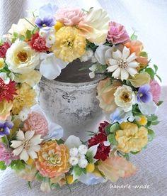 ハンドメイドマーケット minne(ミンネ)| colorful flowers : wreath