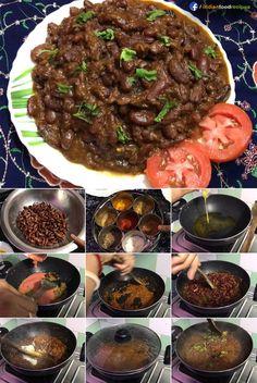 Kashmiri Rajma Masala recipe step by step pictures Paneer Recipes, Curry Recipes, Vegetarian Recipes, Cooking Recipes, Delicious Recipes, Cooking Tips, Tasty, Kashmiri Recipes, Gujarati Recipes