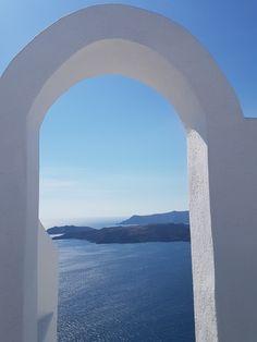 Santorini Greece, Airplane View
