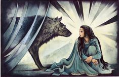 After Curufin had imprisoned Lúthien, his own dog Húan turned against him, for Húan had also lost his heart to her and resented Curufin's di...