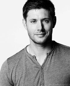 Jensen Ackles B&W and his beautiful SMILE <3 #Supernatural Season 9 Promo Photoshoot <3