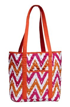 Infant Masalababy Quilted Tote & Diaper Bag - Orange