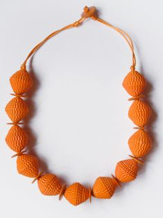 corrugated paper necklace..it's perfect