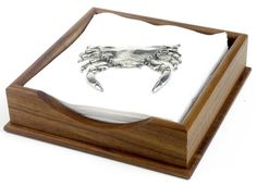 Tides Cocktail Napkin Holder with Crab Weight