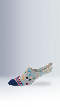 Polka Dots No Show Socks