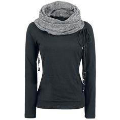 Scarves Hooded Longsleeve by Black Premium by EMP