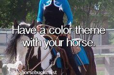 Un-completed horse bucket list stuff