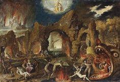 The Harrowing of Hell. Jacob van Swanenburg (1571 - 1638).
