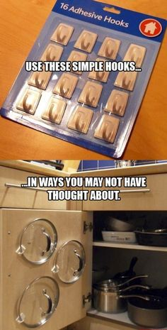 DIY Home Idea #2 good idea with the lids on the doors i hate to search for them