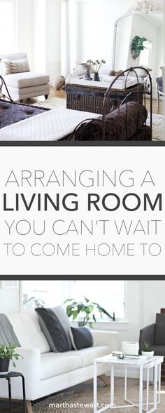 Arranging a Living Room You Can't Wait to Come Home To | Martha Stewart Living