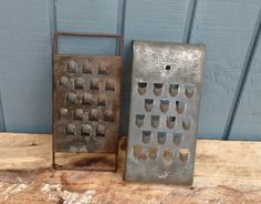 Vintage Graters - Farmhouse Graters - Metal Graters - Cheese Graters by theindustrycottage on Etsy