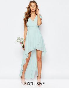 Image 1 ofTFNC WEDDING High Low Chiffon Dress