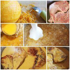 Pollo a la naranja, paso a paso. Mashed Potatoes, Salsa, Ethnic Recipes, Kitchen, Food, Onions, Baking, Juicing, Cooking