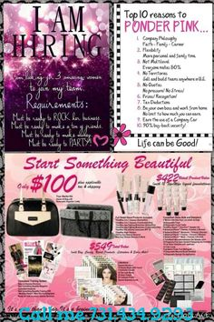 Join my team now! Call me and let's chat! 614-270-2809 Www.marykay.com/clively2015 Www.facebook.com/CorinneLively2015