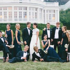 Browse hundreds of photos showcasing the most beautiful bridesmaids' dresses. Preppy Bridesmaids Dresses, Preppy Wedding Dress, Beautiful Bridesmaid Dresses, Indigo Wedding, Blue Wedding, Wedding Bells, Dream Wedding, Cute Preppy Outfits, 12 Dancing Princesses