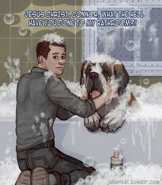 Detroit become human Connor and Sumo By: julientel