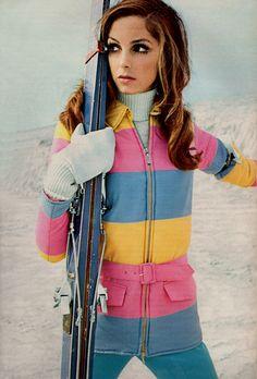 1968.Vintage ski style - wish I had this now!  Love it!