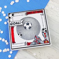 Card created using For the Love of Stamps by Hunkydory Crafts Football Crazy Stamp Set