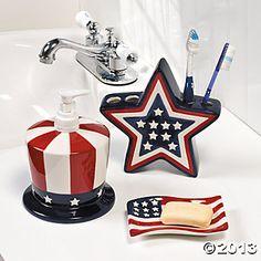 Uncle Sam Bathroom Accessories   Fun For Summer/patriotic Holidays