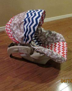 Boutique Infant Car Seat Cover  Boys love by GodsLovingGrace, $60.00