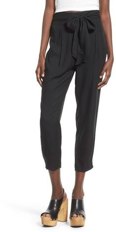 Leith Belted High Rise Crop Pants