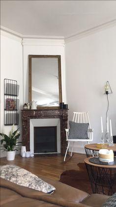 Inspiration Salon,kartell,Décoration cheminée
